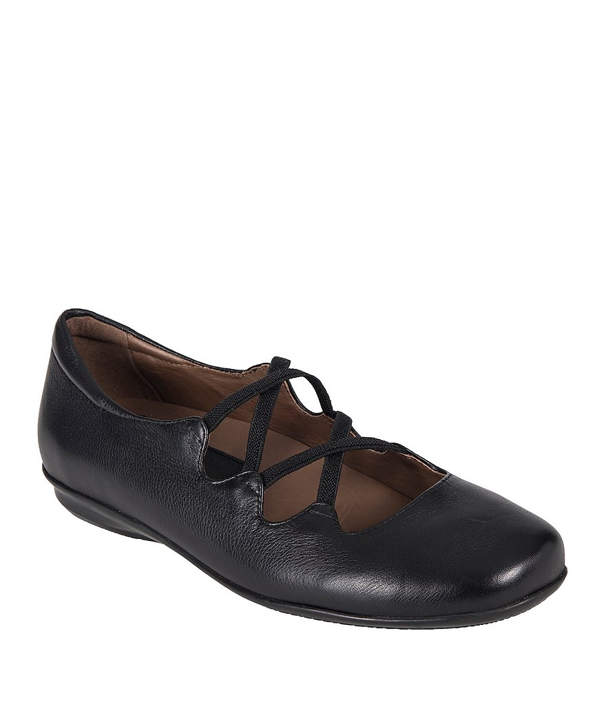 Earth Clare Leather Flats