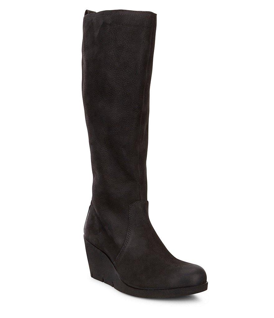 ecco wedge boots dillards
