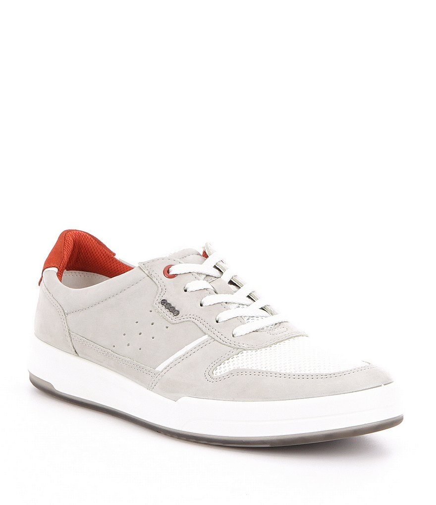ECCO Men's Jack Summer Nubuck Leather and Textile Sneakers