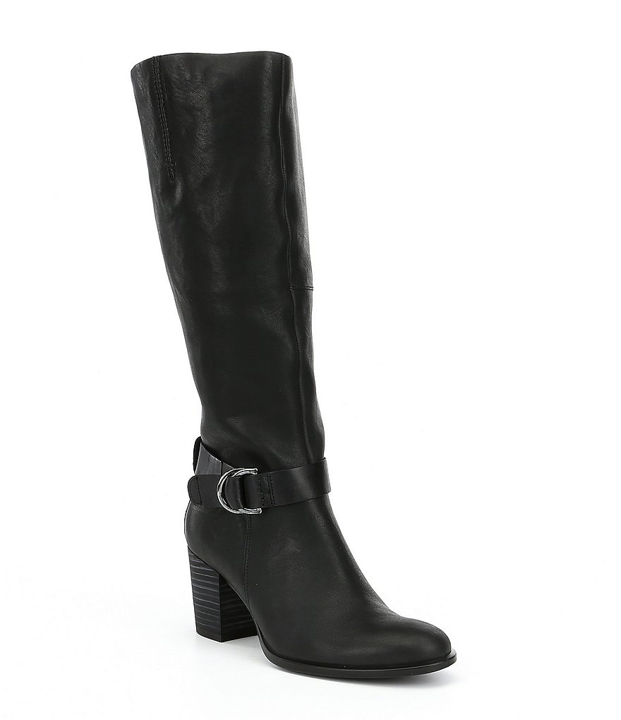 ECCO Shape 55 Buckle Strap Tall Block Heel Boots