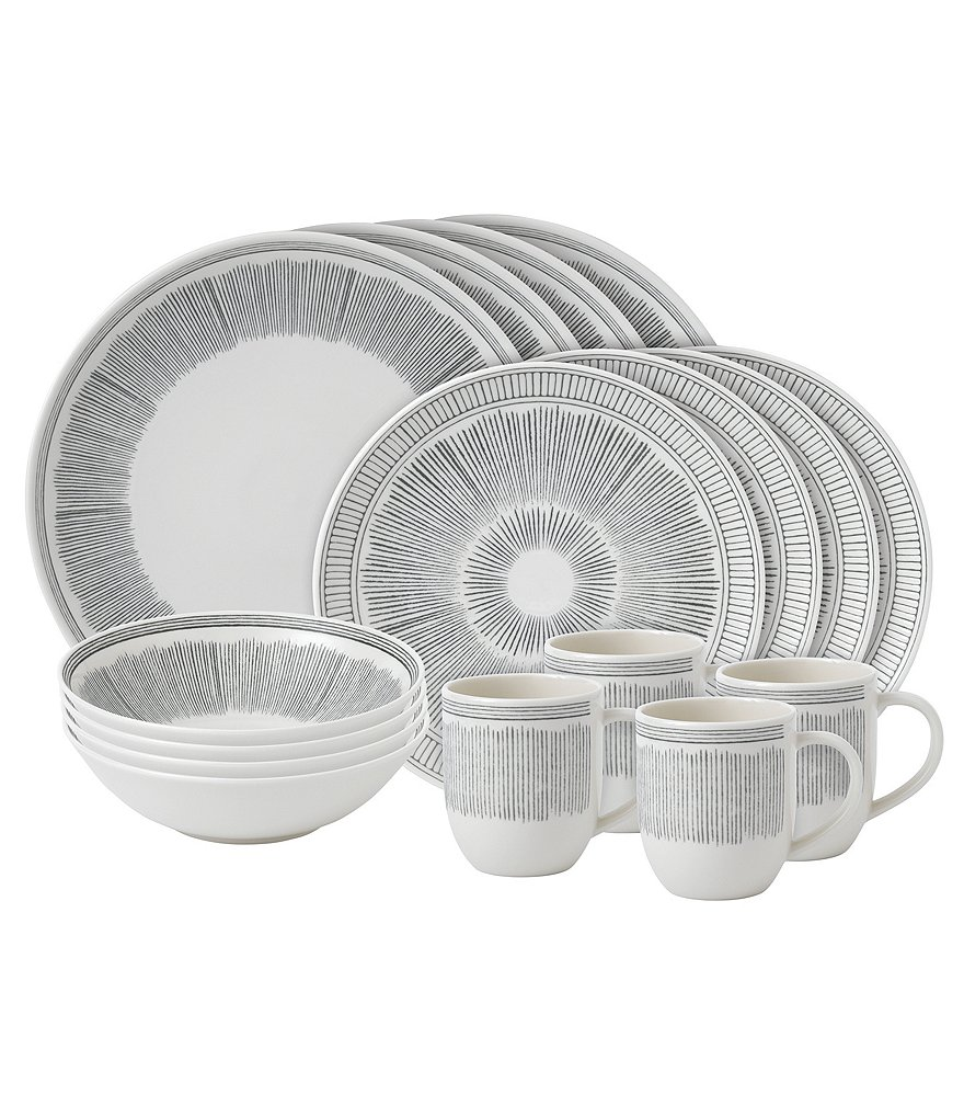 ED Ellen DeGeneres Crafted by Royal Doulton 16-Piece Grey Lines Collection Dinnerware Set  sc 1 st  Dillardu0027s & ED Ellen DeGeneres Crafted by Royal Doulton 16-Piece Grey Lines ...