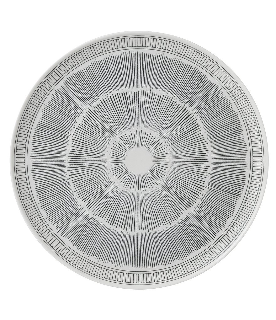 ED Ellen Degeneres Crafted by Royal Doulton Grey Lines Collection Round Platter