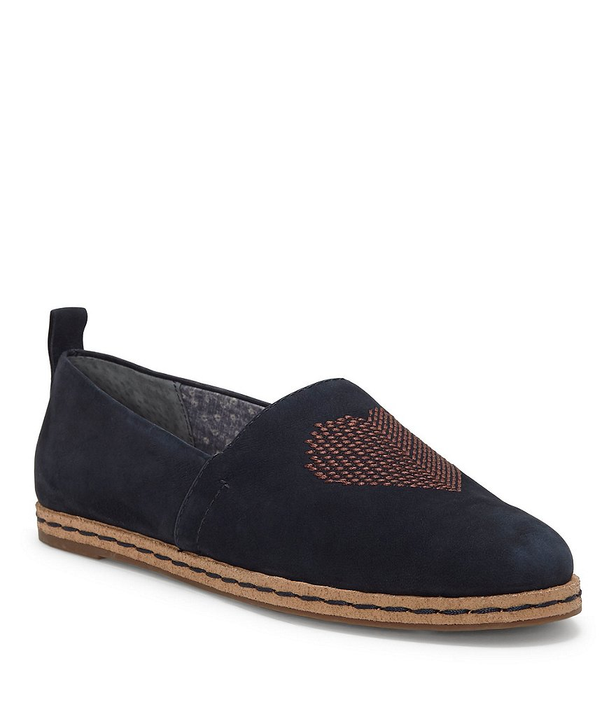 ED Ellen DeGeneres Nalita Nubuck Leather Heart Embroidered Slip-Ons