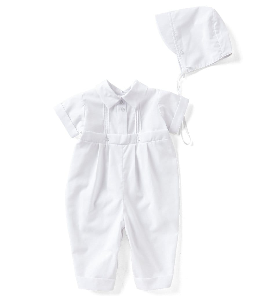 Edgehill Collection Baby Boy Newborn-12 Months Pin Tucked Christening Coverall