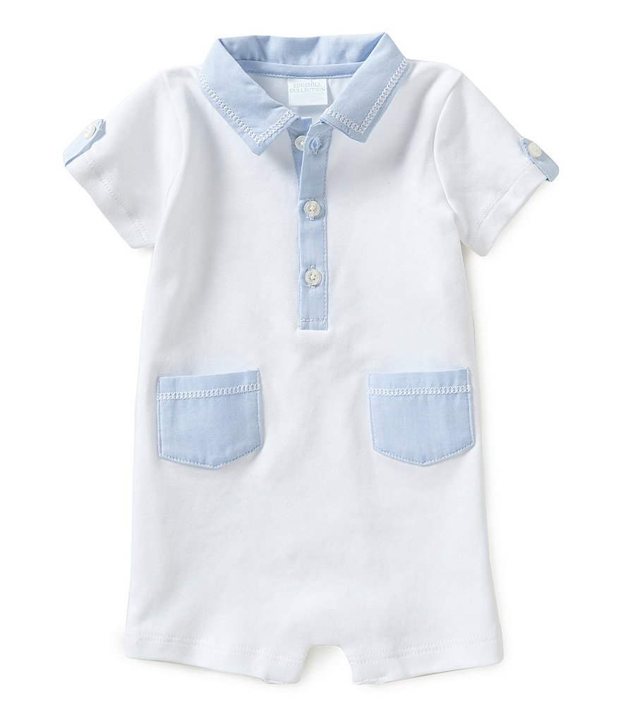 Edgehill Collection Baby Boys Newborn-6 Months Oxford Shortall