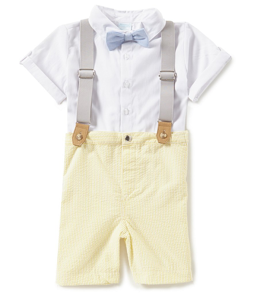 Edgehill Collection Baby Boys Newborn-24 Months Shirt & Short 2-Piece Set