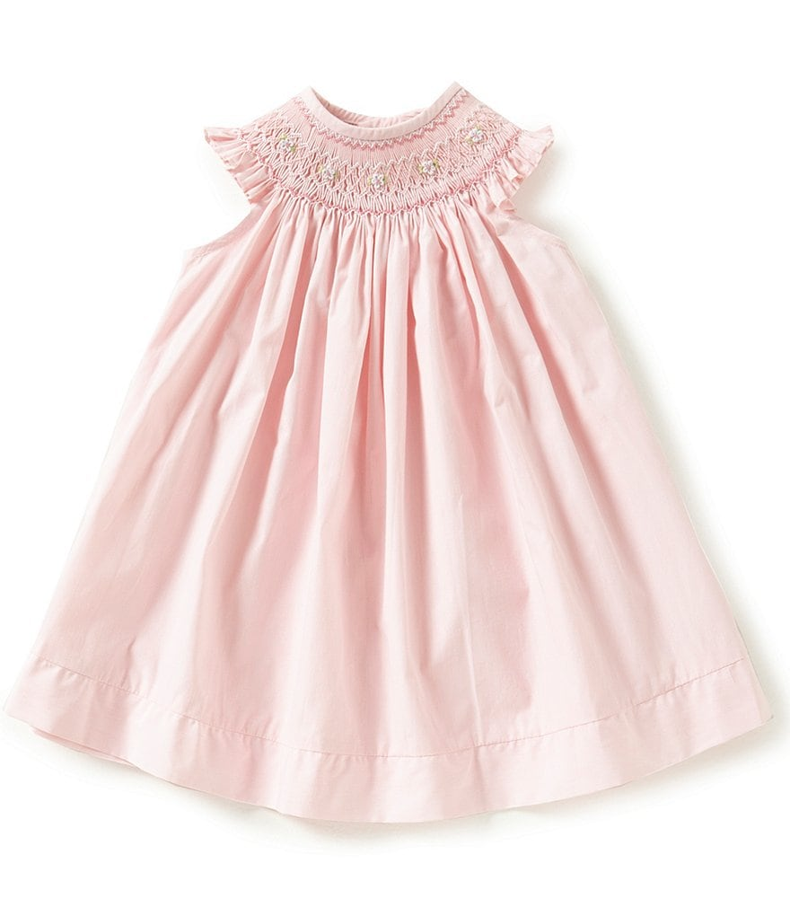 Edgehill Collection Baby Girls 3-9 Months Bishop Smocked Embroidered Dress