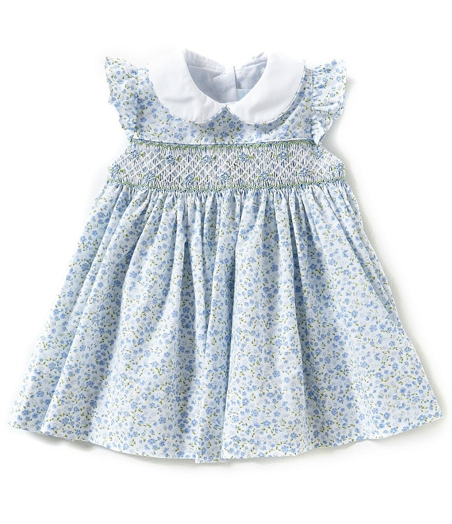 Edgehill Collection Baby Girls 3-9 Months Smocked Floral Dress