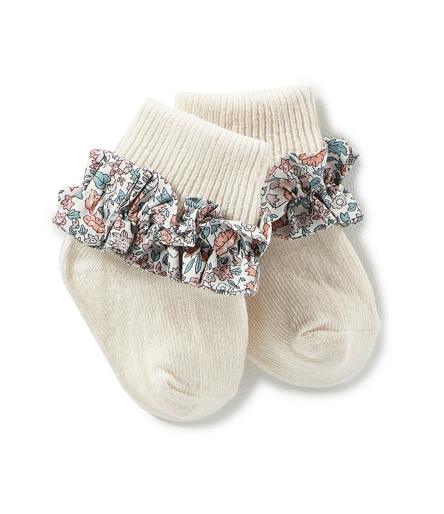Edgehill Collection Baby Girls Ave Turncuff Socks Made with Liberty Fabrics