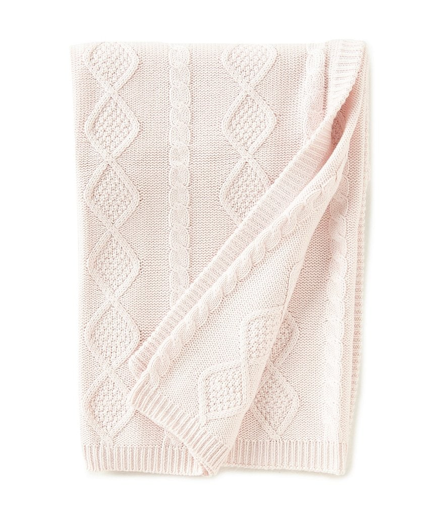 Edgehill Collection Baby Girls Cable-Knit Blanket