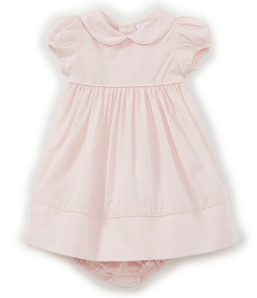 74443702bb Edgehill Collection Baby Girls Newborn-24 Months Peter-Pan Collar Solid A-Line  Dress