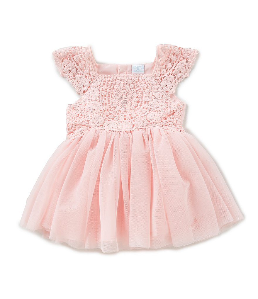 Edgehill Collection Baby Girls Newborn-24 Months Rose Crochet Dress