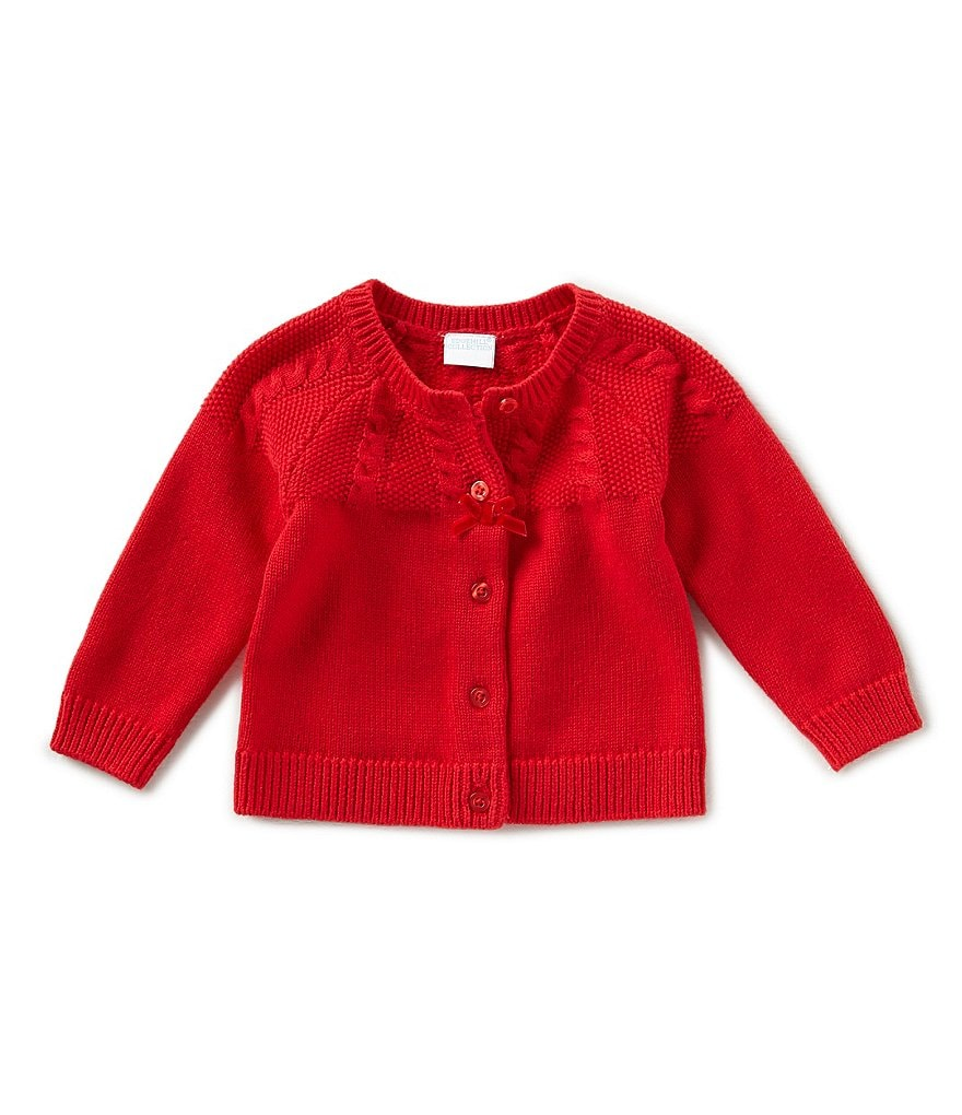 Edgehill Collection Baby Girls Newborn-9 Months Button-Front Cardigan