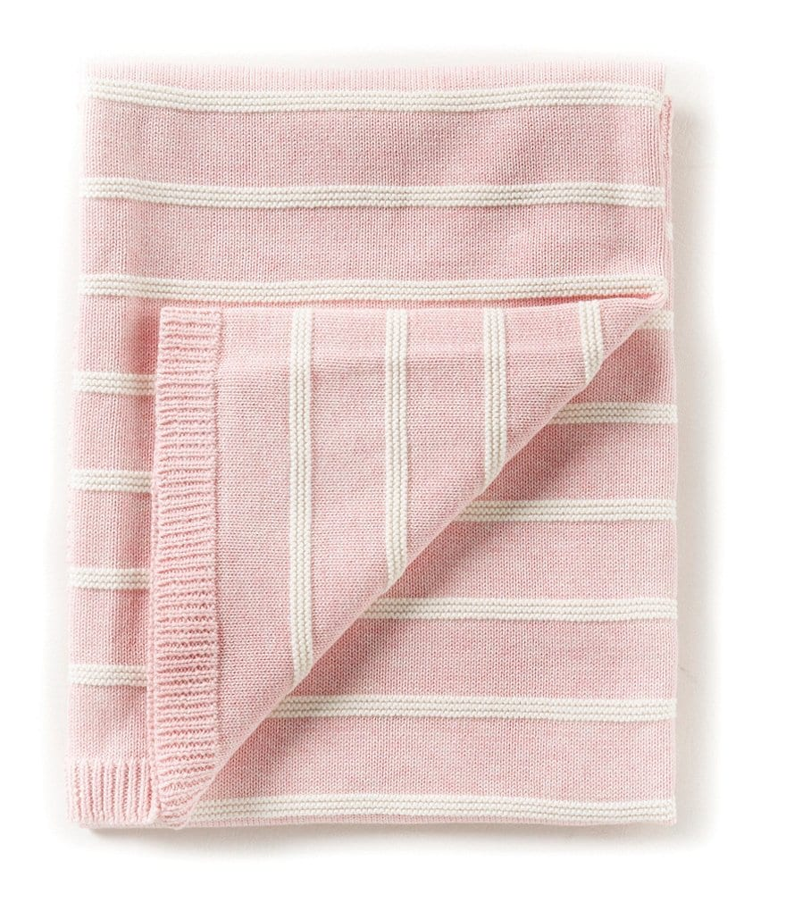 Edgehill Collection Baby Girls Striped Blanket