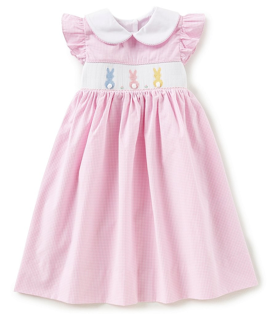 Edgehill Collection Little Girls 2T-4T Easter Checked Bunny Dress