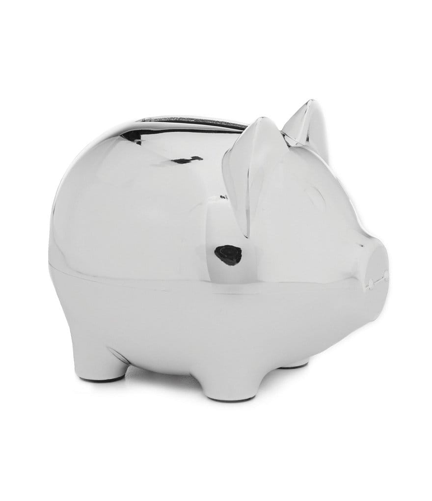 Edgehill Collection Silver Piggy Bank