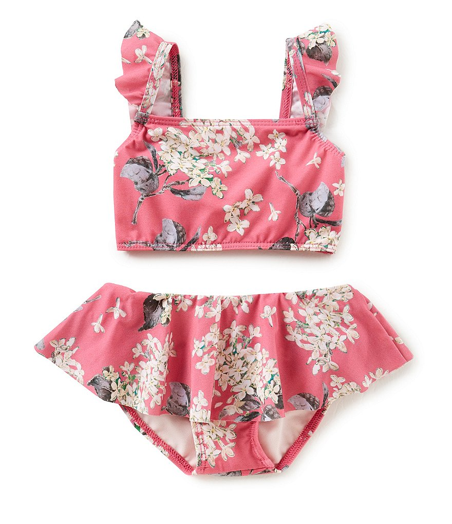 Edgehill Little Girls 2T-4T Floral Ruffle 2-Piece Swimsuit Made with Liberty Fabrics