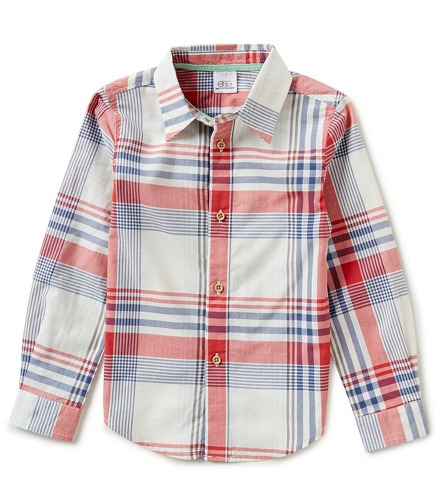 Egg by Susan Lazar Little Boys 2T-4T Luke Button-Down Plaid Shirt
