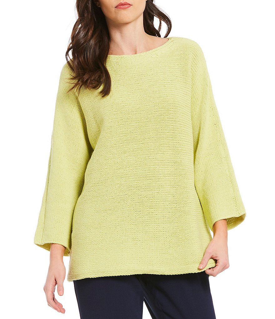 Eileen Fisher Bateau Neck Bracelet Sleeve Box-Top