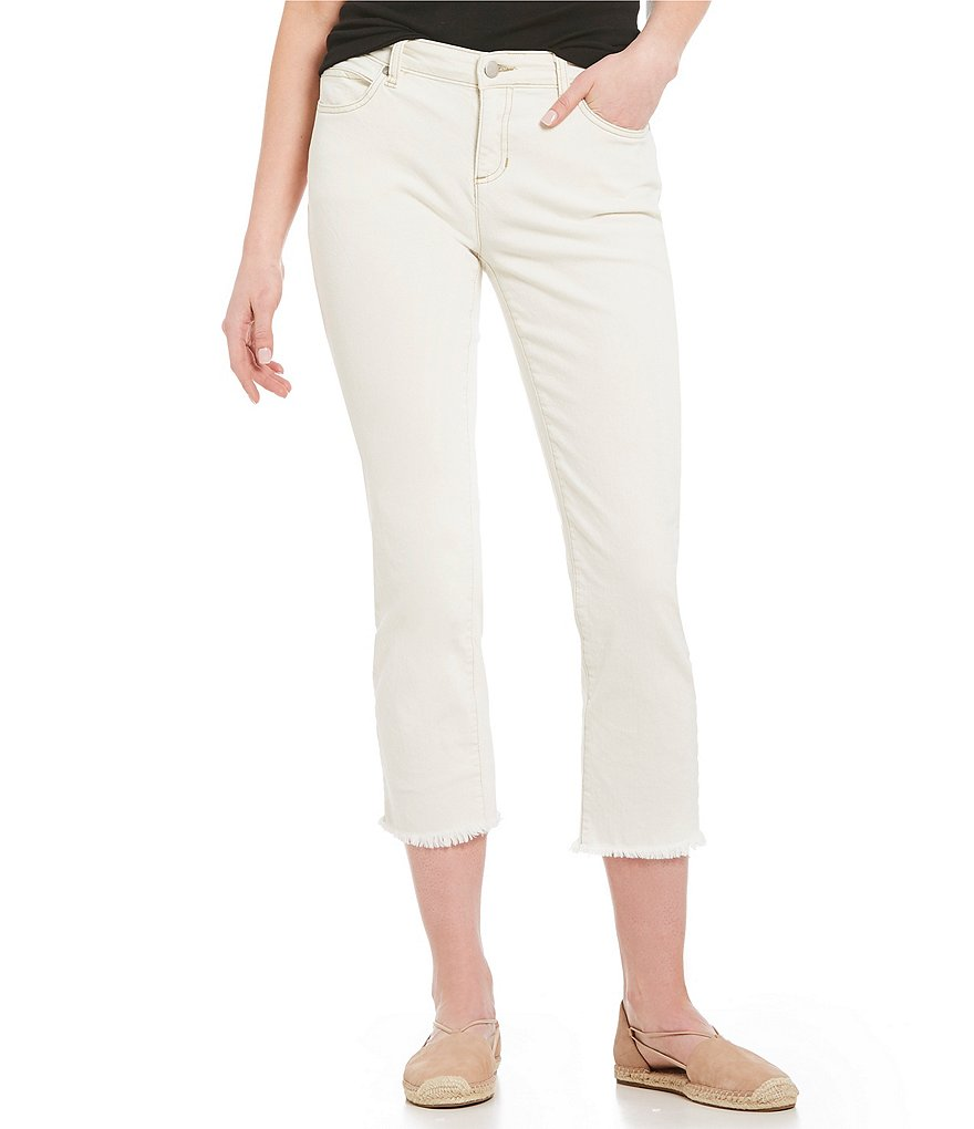 Eileen Fisher Cropped Straight Leg Jeans
