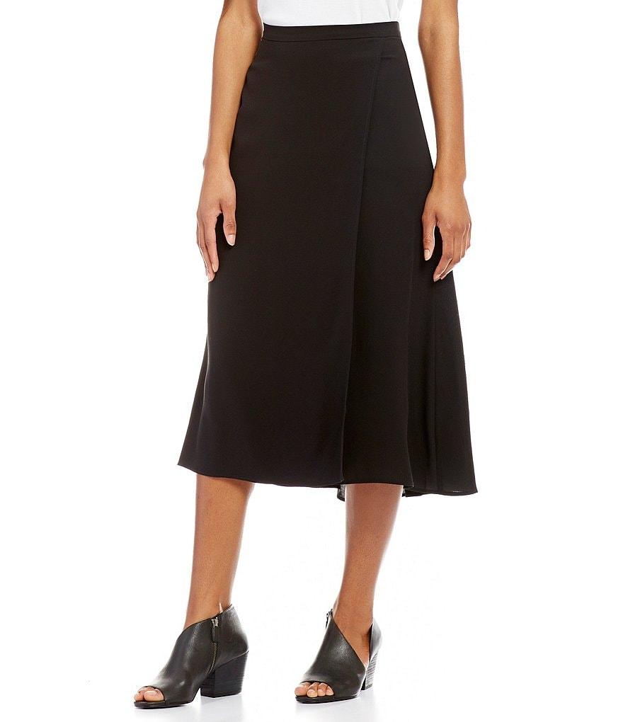 Eileen Fisher Faux Wrap Skirt | Dillards