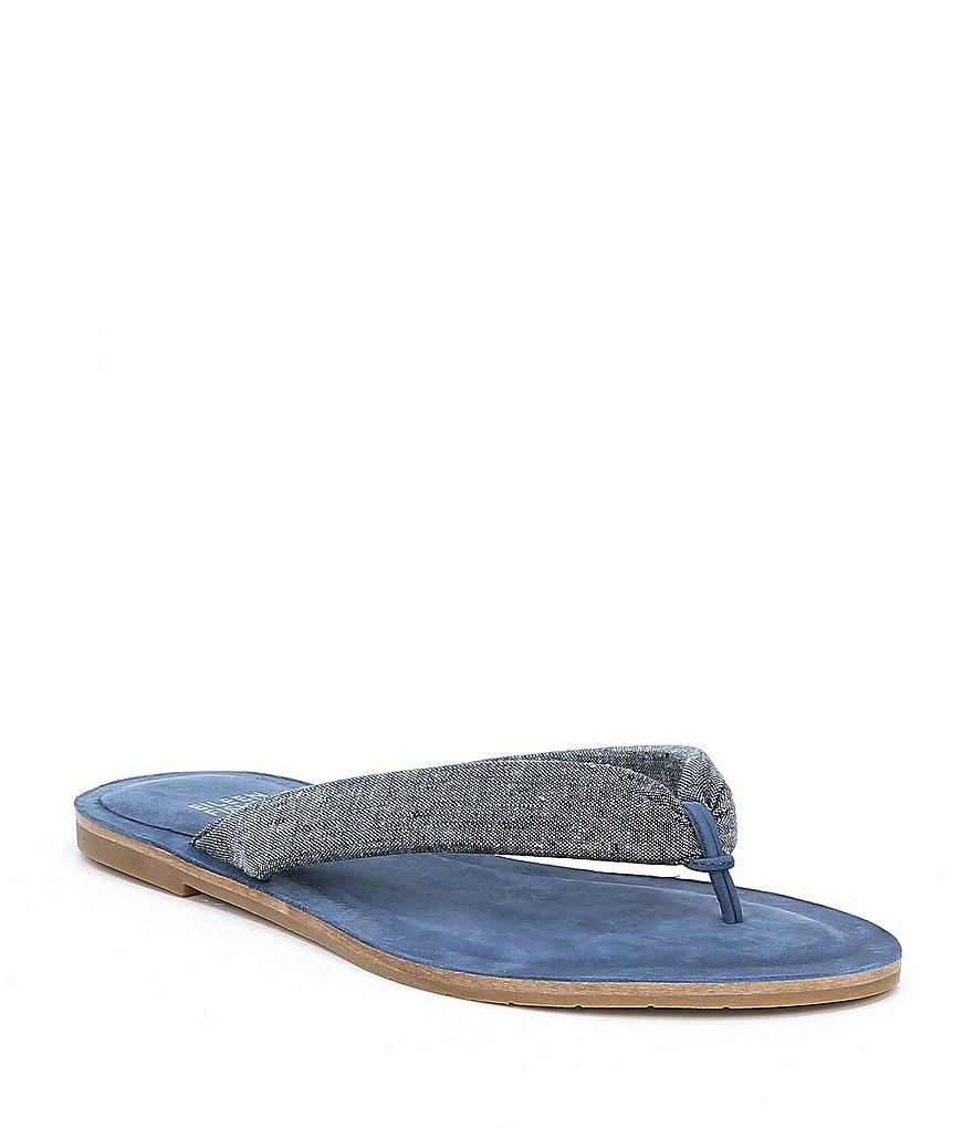 Eileen Fisher Flue Denim Thong Sandals