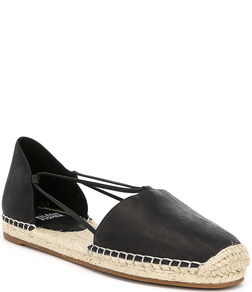 Eileen Fisher Lee Espadrille Leather Flats