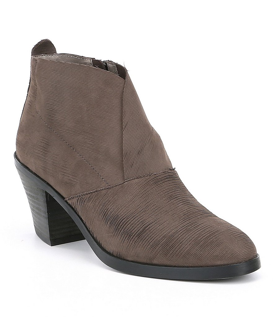 Eileen Fisher Murphy Nubuck Block Heel Booties