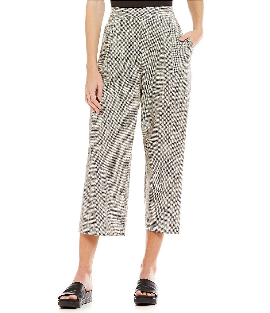 Eileen Fisher Petite Chainette Wide Printed Pants