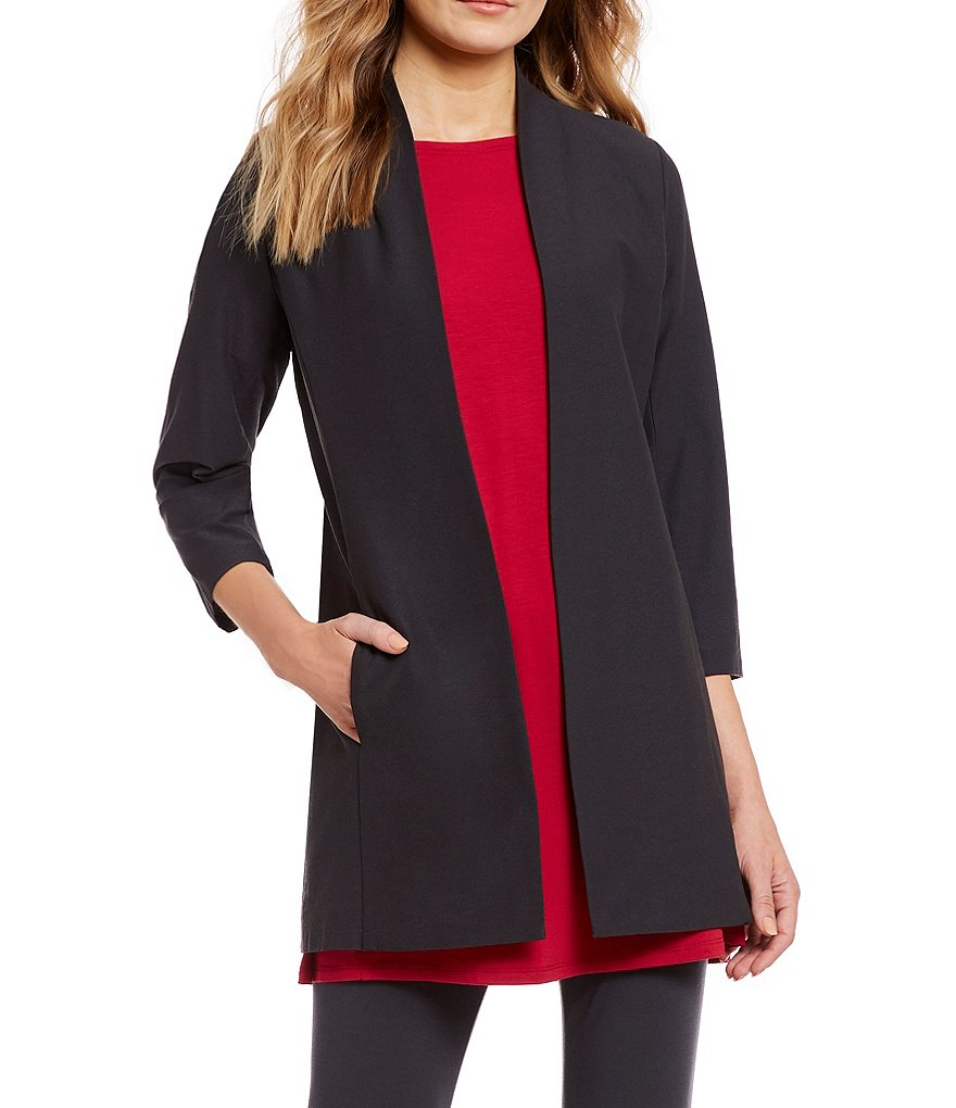 Eileen Fisher Petite Size 3/4 Sleeve Long Jacket