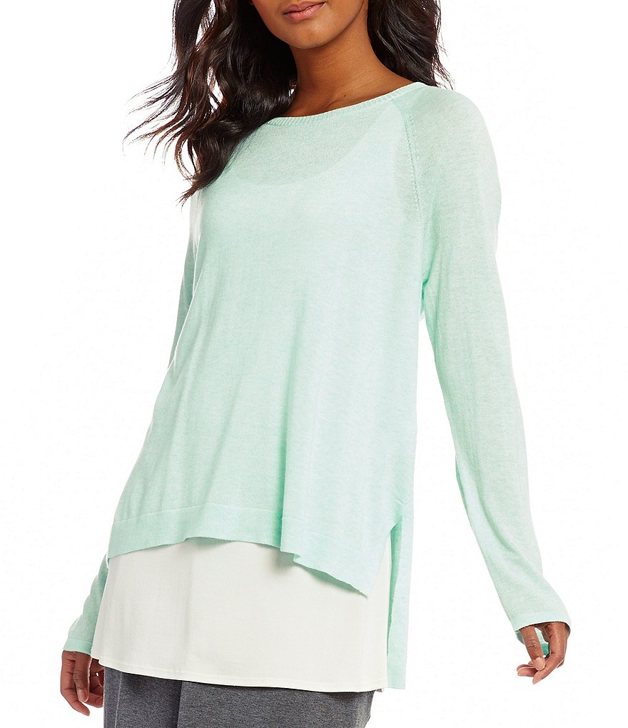 Eileen Fisher Petites Ballet Neck Top