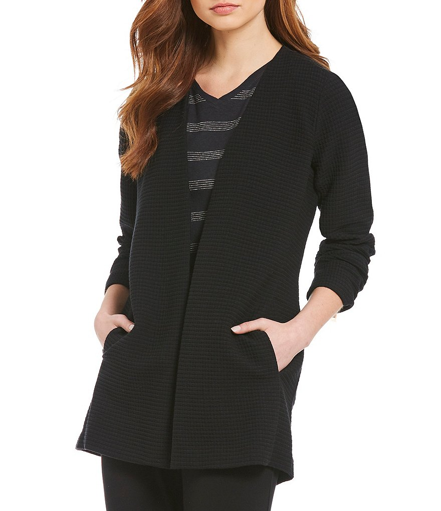 Eileen Fisher Petites Bracelet Sleeve Long Jacket