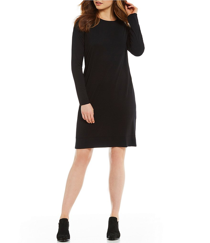 Eileen Fisher Petites Jewel Neck Dress