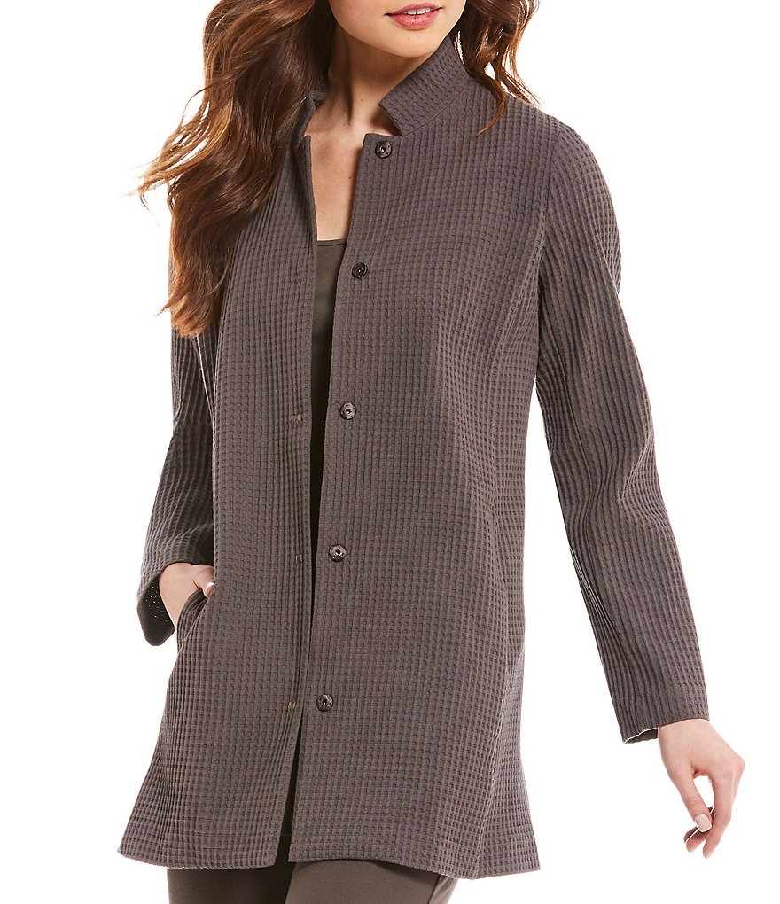 Eileen Fisher Petites Stand Collar Jacket