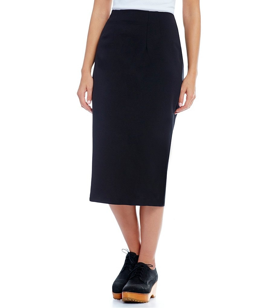 Eileen Fisher Petites Stretch Ponte Pencil Skirt