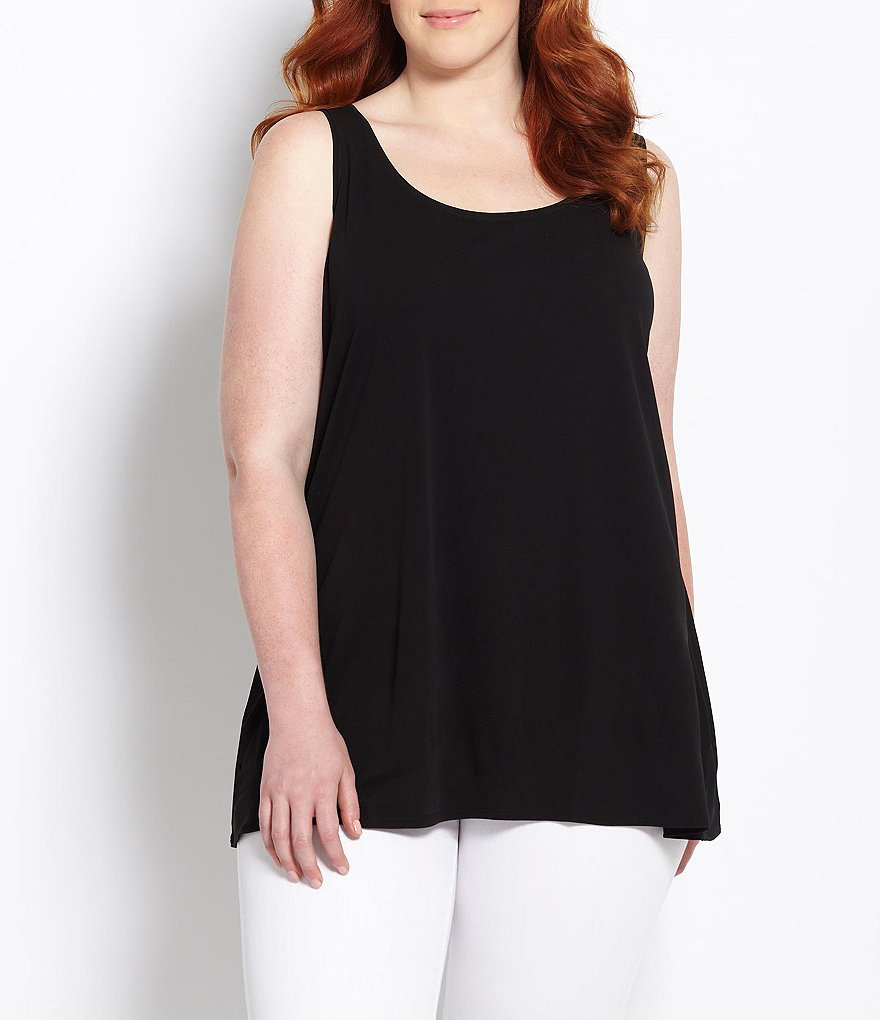 Eileen Fisher Plus A-Line Silk Tank