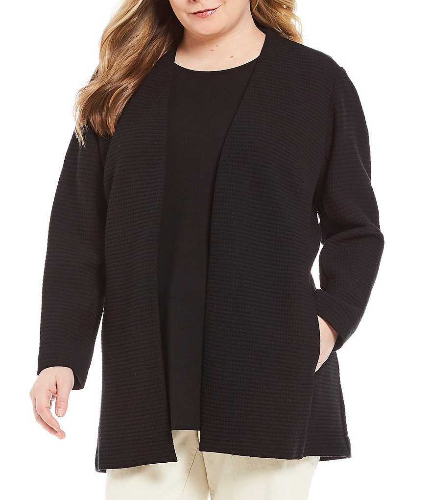 Eileen Fisher Plus Bracelet Sleeve Long Jacket