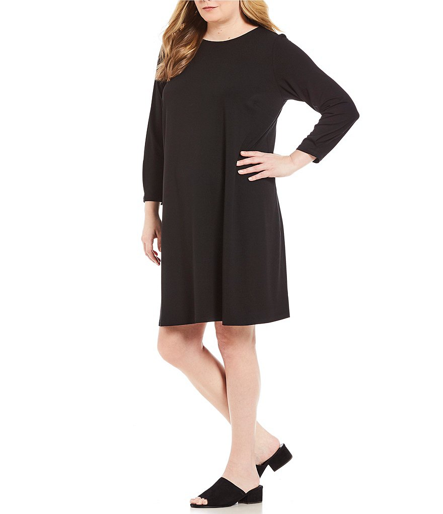 Eileen Fisher Plus Round Neck Dress