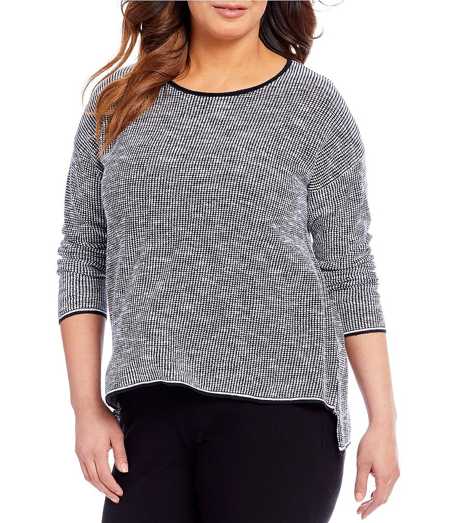 Eileen Fisher Plus Round Neck Top