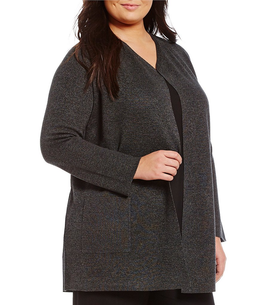 Eileen Fisher Plus Sleek Merino Tencel Cardigan