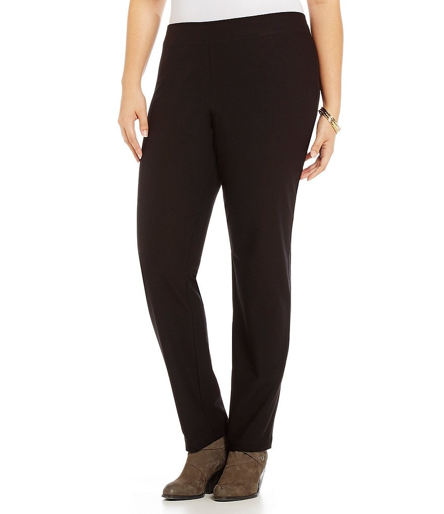 Eileen Fisher Plus Slim Straight Leg Pants
