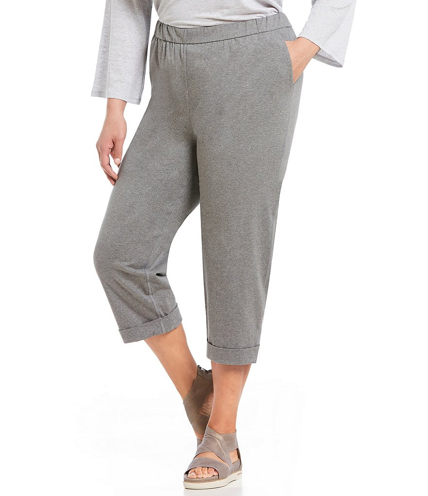 Eileen Fisher Plus Slouchy Cropped Pants