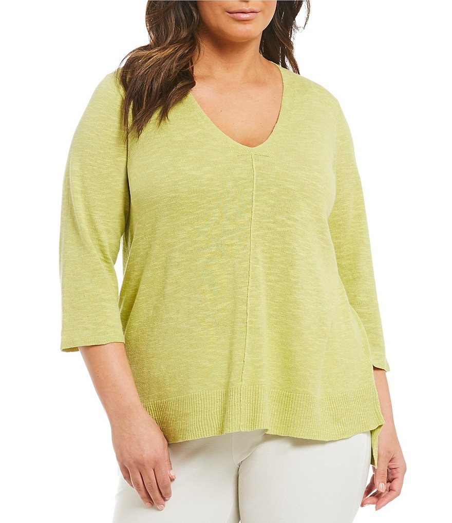 Eileen Fisher Plus V-Neck Top