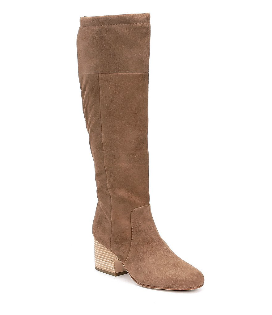 Eileen Fisher Suede Block Heel Tall Boots