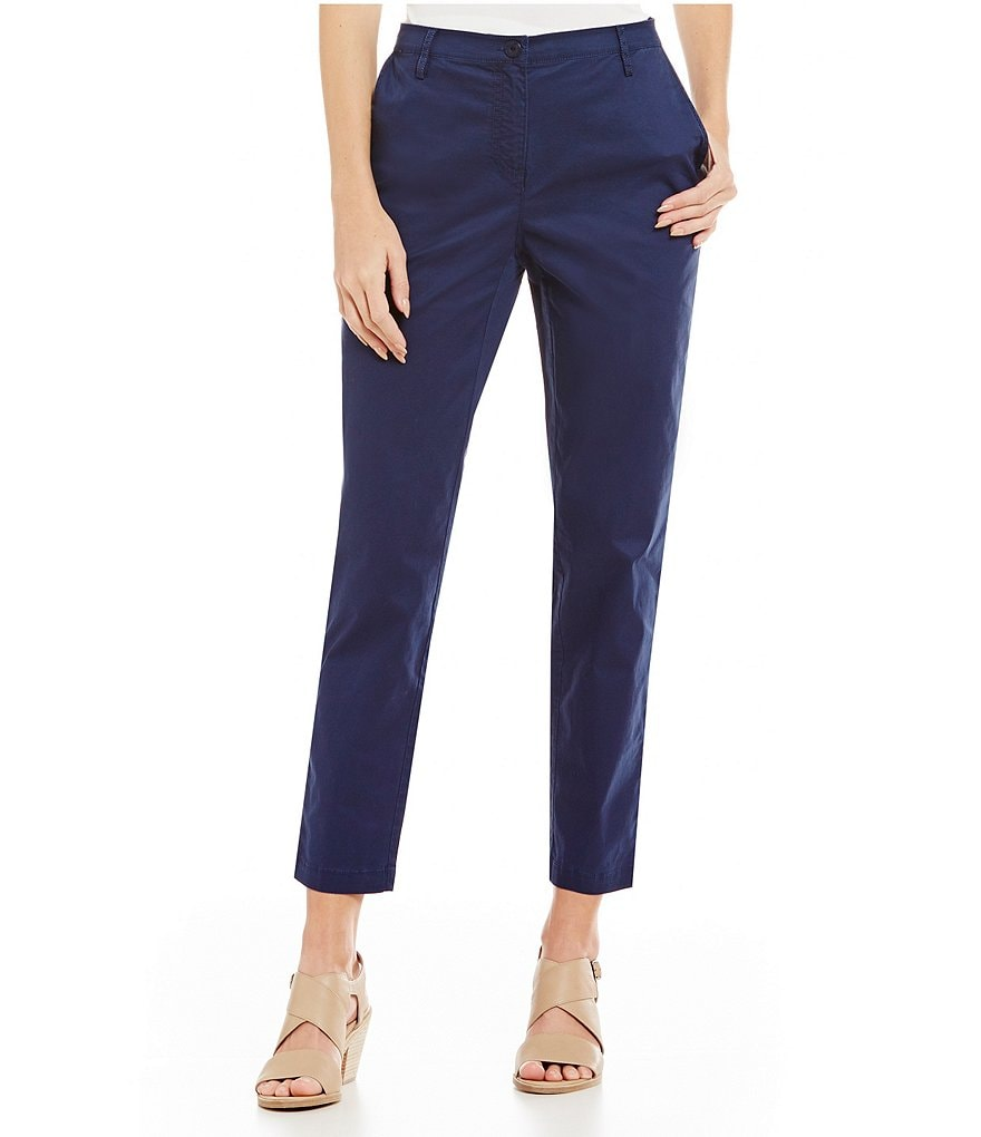 Eileen Fisher Tencel Twill Trouser Pants