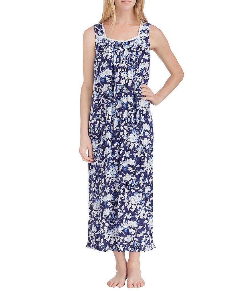 Eileen West Floral-Print Modal Ballet Nightgown