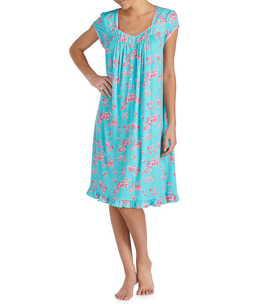 Eileen West Floral-Print Modal Waltz Nightgown