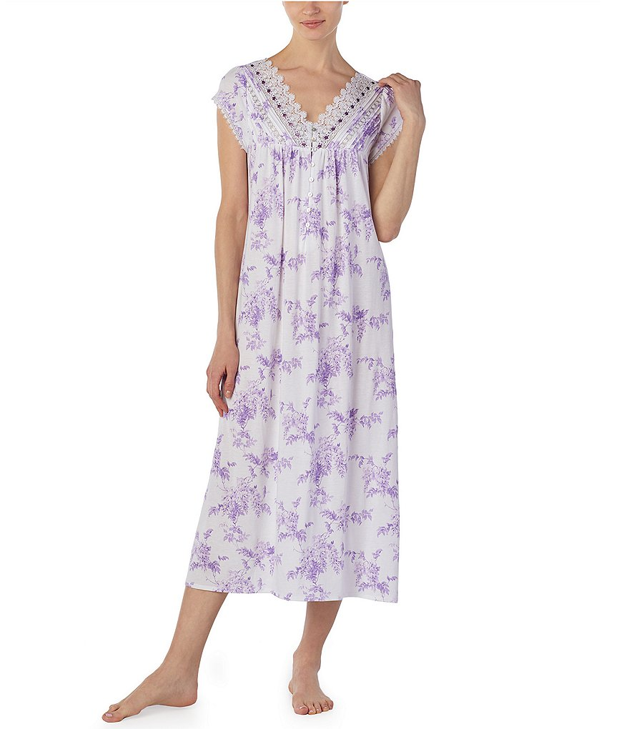 Eileen West Knit Cap Sleeve Ballet Nightgown