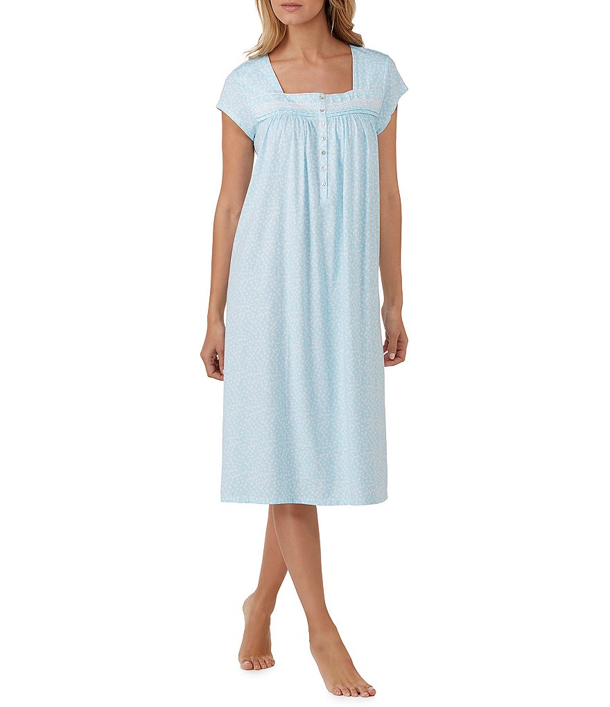 Eileen West Lace-Trimmed Jersey Ballet Nightgown