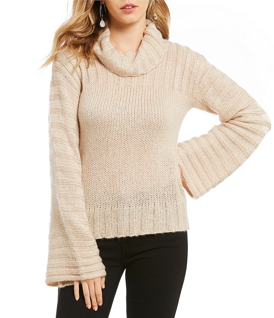 Elan Flare Sleeve Turtleneck Sweater